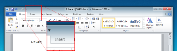 Office 2010-style Window Header with WPF and Microsoft