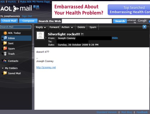 AOL RIA Email Client